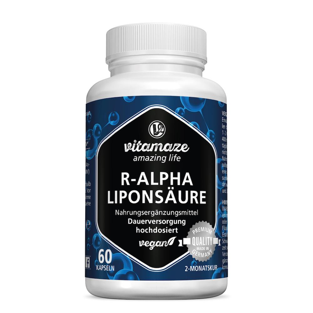 R-ALPHA-LIPONSÄURE 200 mg hochdosiert vegan