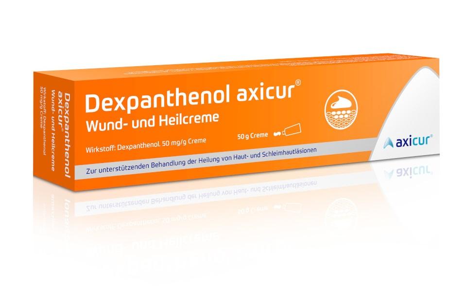 Dexpanthenol axicur Wund- und Heilcreme 50 mg/g