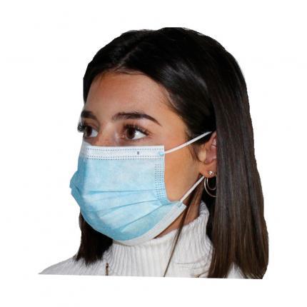 Einweg-Mundschutz mit Nasenbügel 50 Stück