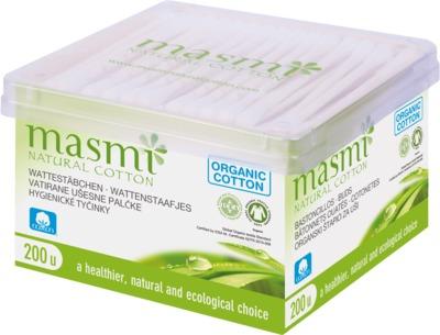 BIO KOSMETIKSTÄBCHEN 100% Bio-Baumwolle MASMI