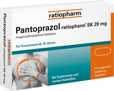 Pantoprazol ratiopharm SK 20 mg – 14 St