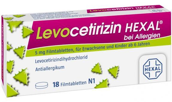 Levocetirizin HEXAL bei Allergien 5 mg Filmtabletten