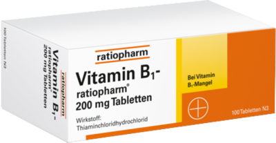 VITAMIN B1 ratiopharm 200 mg Tabletten