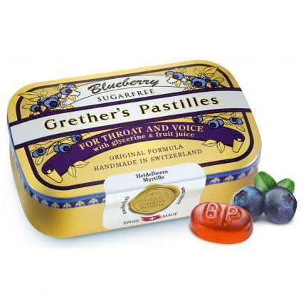 Grethers Blueberry Zuckerfrei Pastillen