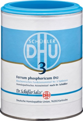 BIOCHEMIE DHU 3 Ferrum phosphoricum D 12 Tabletten