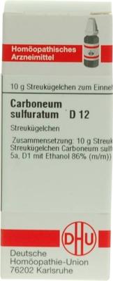 Carboneum sulfuratum D 12 Globuli