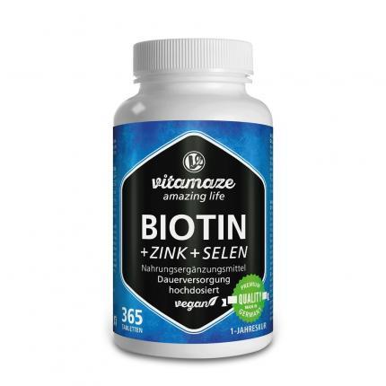 BIOTIN 10 mg hochdosiert+Zink+Selen