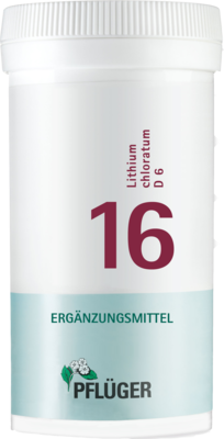 BIOCHEMIE Pflüger 16 Lithium chloratum D 6 Tabl.