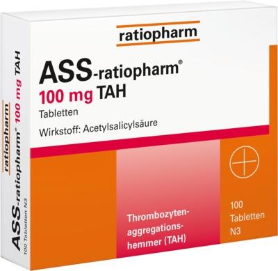 ASS ratiopharm 100 mg TAH Tabletten