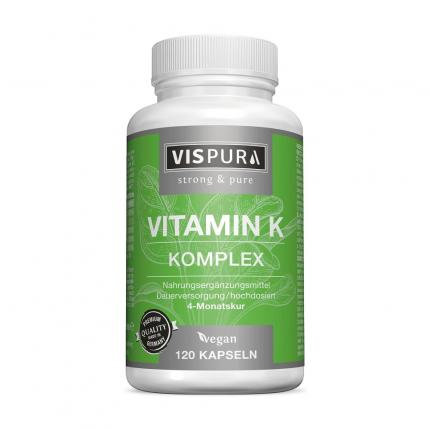 VITAMIN K1+K2 Komplex hochdosiert vegan