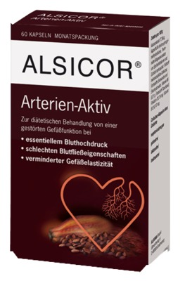 ALSICOR mit Kakao Flavanolen Kapseln