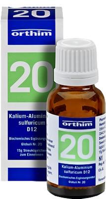 BIOCHEMIE Globuli 20 Kalium alumin.sulfur.D 12 Gl.