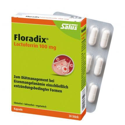 FLORADIX Lactoferrin 100 mg Kapseln