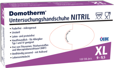 DOMOTHERM Unt.Handschuhe Nitril unste.puderfrei XL