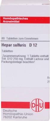HEPAR SULFURIS D 12 Tabletten