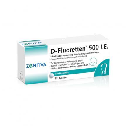 D-Fluoretten 500 I.E.