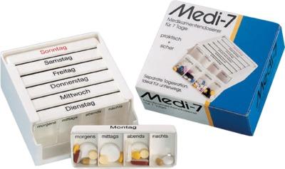 Medi-7 Medikamentendosierer 7 Tage weiß