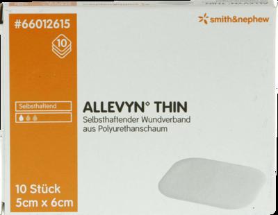 ALLEVYN Thin 5x6 cm dünne Wundauflage