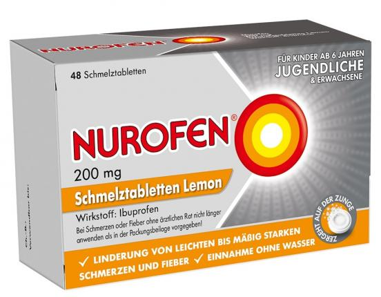 NUROFEN 200mg Schmelztabletten Lemon
