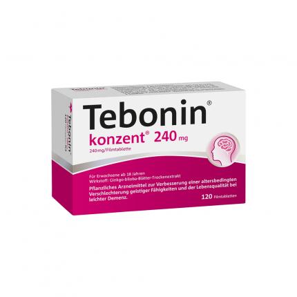 Tebonin konzent 240 mg für ein fittes Gehirn