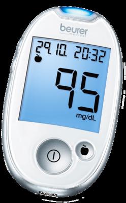 BEURER GL44 Blutzuckermessgerät mg/dl weiß