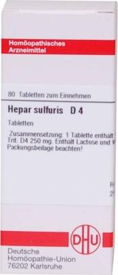 HEPAR SULFURIS D 4 Tabletten