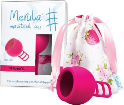 MERULA Menstrual Cup strawberry pink