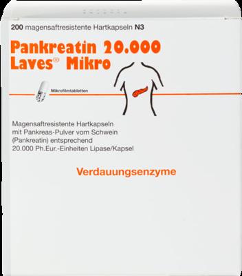 PANKREATIN 20.000 Laves Mikro magensaftres.Kapseln