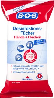 SOS Desinfektions-Tücher Hände und Flächen