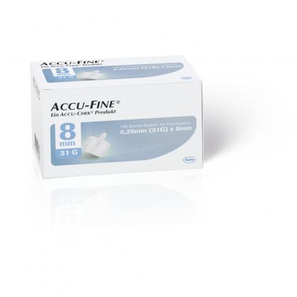 ACCU FINE sterile Nadeln f.Insulinpens 8 mm 31 G