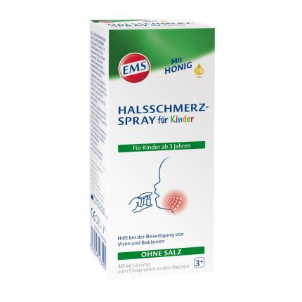EMS HALSSCHMERZSPRAY für Kinder mit Honig