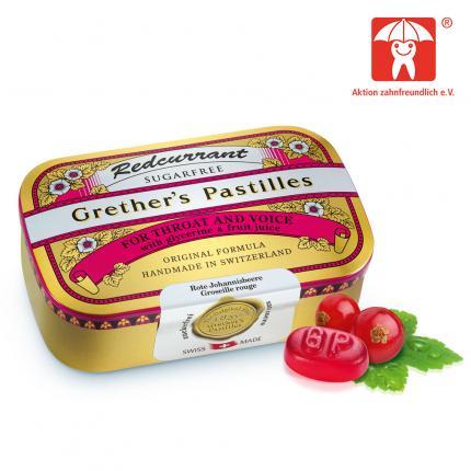 Grether`s Pastilles Redcurrant + Vitamin C zuckerfrei