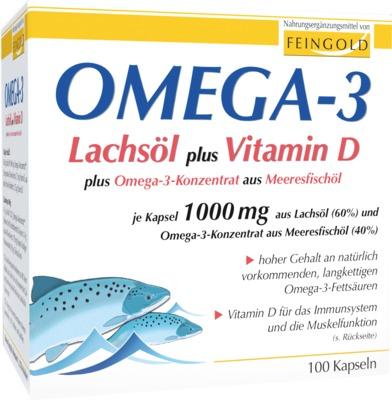 OMEGA-3 LAchsöl plus Vitamin D