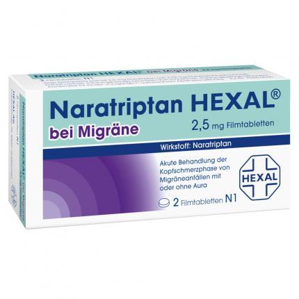 Naratriptan HEXAL bei Migräne 2,5mg