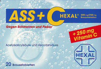 ASS + C HEXAL gegen Schmerzen und Fieber Brausetabletten