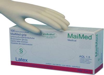 MaiMed-grip PF Untersuchungshandschuhe Latex S