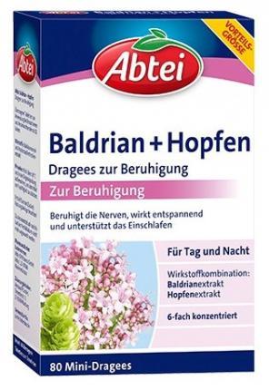 Abtei Baldrian+Hopfen Dragees zur Beruhigung
