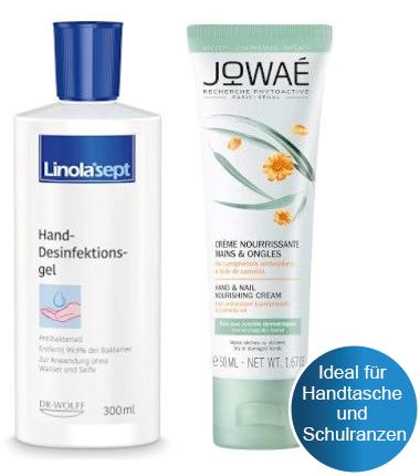 Handhygiene und -pflege Set