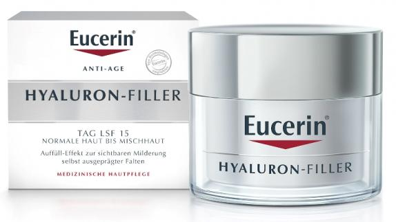 Eucerin ANTI-AGE HYALURON-FILLER TAG LSF15 NORMALE HAUT BIS MISCHHAUT