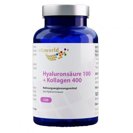 HYALURONSÄURE 100+Kollagen 400 Kapseln