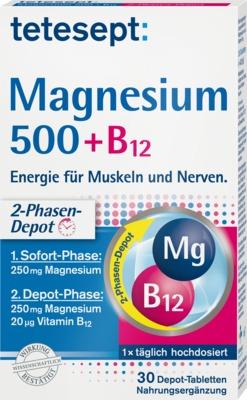 TETESEPT Magnesium 500+B12 Depot Tabletten