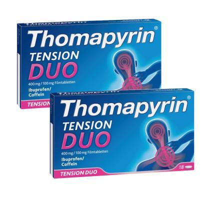 Thomapyrin TENSION DUO bei Kopfschmerzen Doppelpack