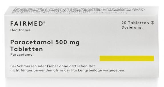 Paracetamol Fairmed 500 mg Tabletten