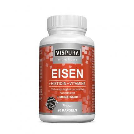 Eisen 20 mg + Histidin + Vitamine C B9 B12 Vispura