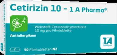 Cetirizin 10-1A Pharma