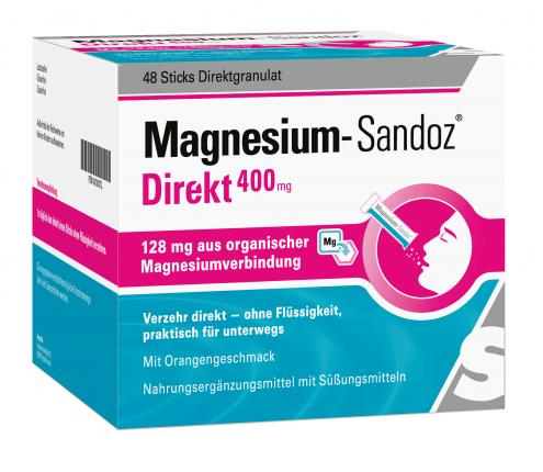 Magnesium Sandoz Direkt 400 mg Sticks