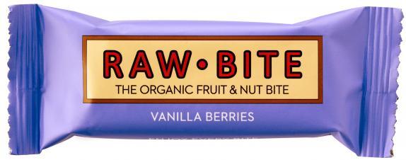 Raw Bite Bio Riegel Vanilla Berries