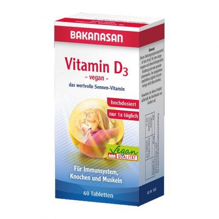 BAKANASAN Vitamin D3 Tabletten