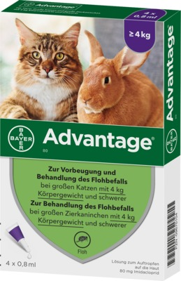 Advantage 80mg Für große Katzen und große Zierkaninchen