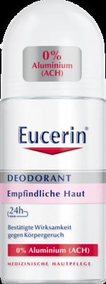 Eucerin Deodorant Roll-on Empfindliche Haut 24h 0% Aluminium